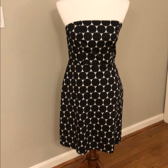 The Limited Dresses Black And White Polka Dot Dress Poshmark